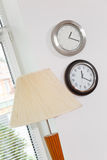 Part interior with lamp shade and clo Stock Photo