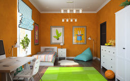 Part of interior modern childroom Royalty Free Stock Images