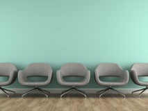 Part of interior with  modern grey armchairs Stock Image