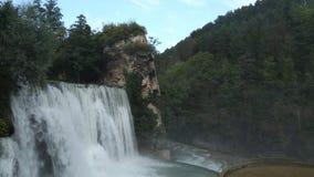 Part of Jajce Waterfall stock footage