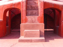 A part of Jantar Mantar observatory with two way closed iron gat Stock Photo