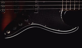 Part of a Jazz Bass Guitar Royalty Free Stock Image