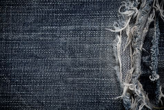 The part of jeans texture rag for the background Stock Photography