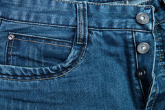 Part of jeans trousers Royalty Free Stock Image