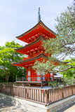 Part of Kiyomizu-dera Temple in Kyoto, Japan. On warm spring or summer day Royalty Free Stock Image