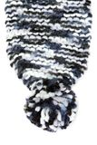 Part knitted warm scarf Royalty Free Stock Images