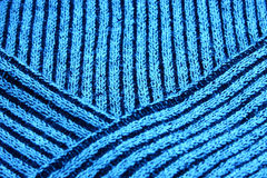 Part of knitted wool Royalty Free Stock Image