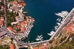 Part of Kotorska bay, Montenegro Royalty Free Stock Photo