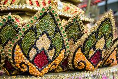 Part of Krathong made from seeds, Thailand Festival. Royalty Free Stock Photography