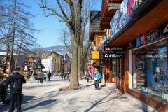 A part of Krupowki Street in Zakopane Stock Photography