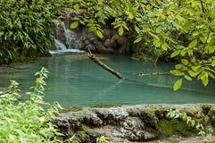 Part of the Krushuna waterfall cascade of river Proinovska near village Krushuna Royalty Free Stock Photos