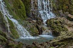 Part of the Krushuna waterfall cascade of river Proinovska near village Krushuna Stock Photos
