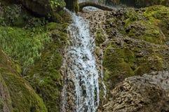 Part of the Krushuna waterfall cascade of river Proinovska near village Krushuna Stock Images