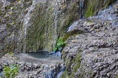 Part of the Krushuna waterfall cascade of river Proinovska near village Krushuna Royalty Free Stock Photo