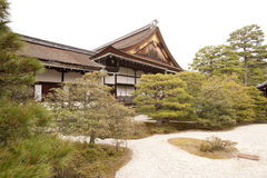 Part of Kyoto's Imperial Palace, Japan. Landscaping in a courtyard, Kyoto Imperial Palace, Japan Stock Image