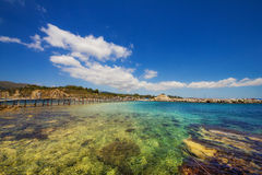 Part of Laganas beach, Zakynthos island. Greece royalty free stock photography