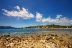 Part of Laganas beach, Zakynthos island Royalty Free Stock Photo