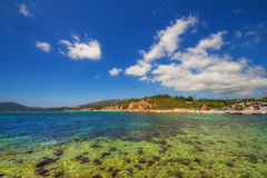 Part of Laganas beach, Zakynthos island. Greece royalty free stock photos