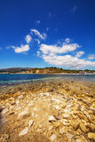 Part of Laganas beach, Zakynthos island. Greece royalty free stock photo