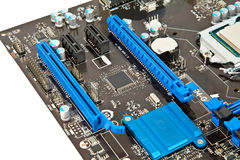 Part of laptop motherboard Stock Image