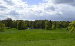 Hampstead Heath and Lake in front of Kenwood House in London Uk royalty free stock photo