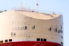 Part of a large tanker ship Stock Images