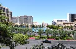Part of the Las Vegas strip with casinos Stock Photos