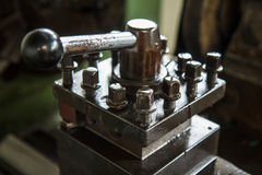 Part of lathe machine Stock Image