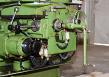 Part of the lathe. Universal milling machine on industrial area Royalty Free Stock Photos