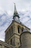 A part of Le Mont Saint-Michel castle, France Royalty Free Stock Image