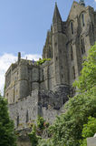 A part of Le Mont Saint-Michel castle Royalty Free Stock Photo