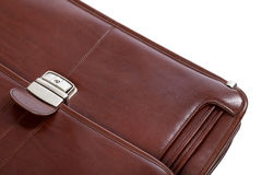Part of leather brown briefcase Royalty Free Stock Photography