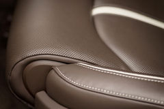 Part of leather car seat. Stock Photography
