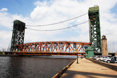 Part of lift bridge. Royalty Free Stock Photo
