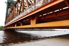Part of lift bridge. Stock Photos