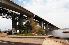 Part of lift bridge. Stock Photo