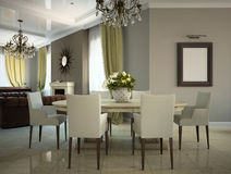Part of the living-room. In the country-house 3D Stock Photo