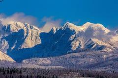 Part Of The Livingston Range In Glacier National Park Stock Image