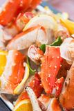 Part of lobster on ice in buffet line seafood Royalty Free Stock Image