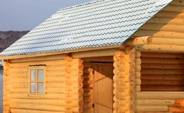 Part of the log cabin Stock Images