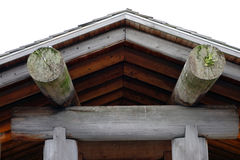 Part of a log cabin in british columbia Royalty Free Stock Images