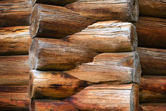 Part of log house Stock Photography