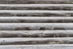 Part of log wall old residential house Royalty Free Stock Photo