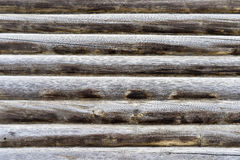 Part of log wall old residential house Royalty Free Stock Photography