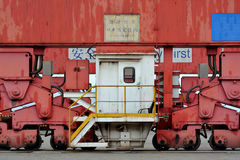 Part of machine in container goods yard Royalty Free Stock Photos