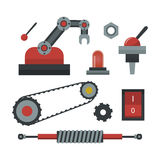 Part of machinery manufacturing work detail gear mechanical equipment industry vector illustration. Stock Photography