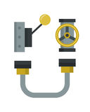 Part of machinery manufacturing work detail gear mechanical equipment industry vector illustration. Stock Images