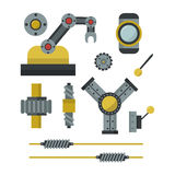Part of machinery manufacturing work detail gear mechanical equipment industry vector illustration. Royalty Free Stock Image