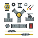 Part of machinery manufacturing work detail gear mechanical equipment industry vector illustration. Part of machinery flat icon manufacturing work detail design vector illustration