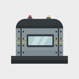 Part of machinery protection manufacturing work detail gear mechanical equipment industry vector. stock illustration